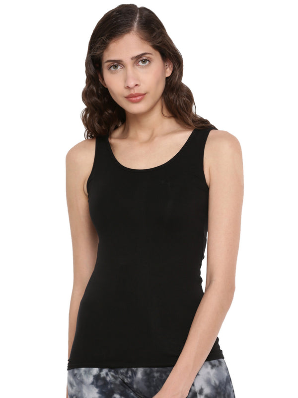 De Moza Ladies Cotton Lycra Black Knit Top - De Moza