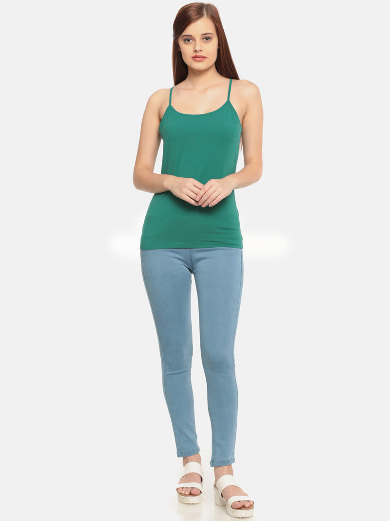 De Moza- Ladies Teal Blue Spaghetti - De Moza