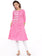 De Moza- Ladies Printed Kurta Pink
