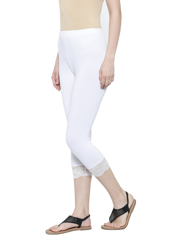 De Moza- Ladies 3/4th Leggings Offwhite - De Moza