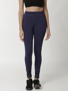 De Moza - Ladies Active Wear Leggings Navy Blue - De Moza