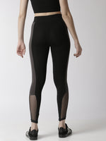 De Moza Women's Active wear Mesh Leggings Black - De Moza