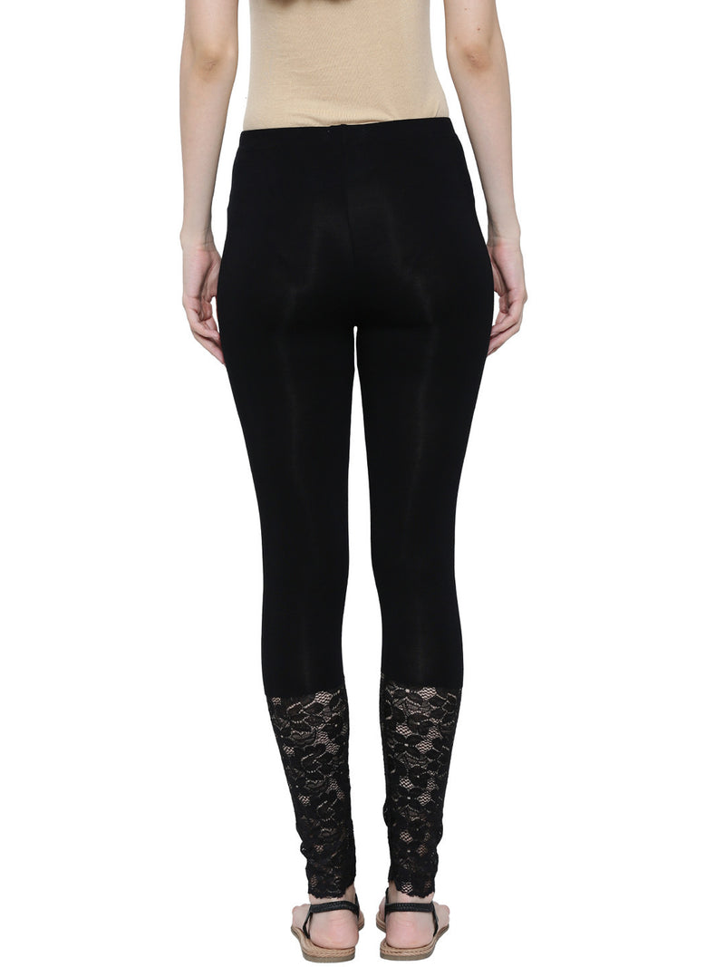 De Moza Ladies Ankle Length Leggings Black - De Moza