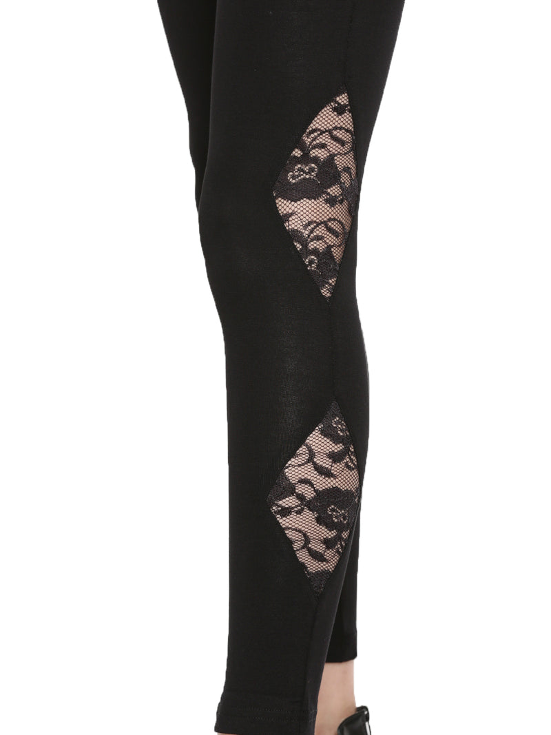 De Moza- Ladies Ankle Length Leggings Black - De Moza