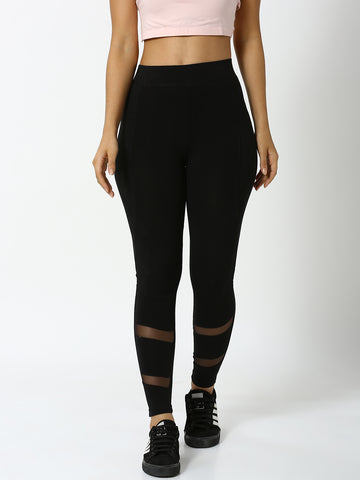 De Moza - Ladies Active Wear Leggings Black - De Moza