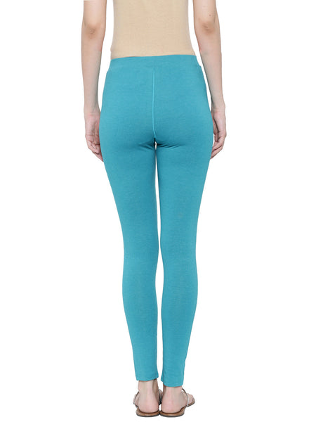 De Moza Ladies Ankle Length - Yoga Leggings Teal Melange