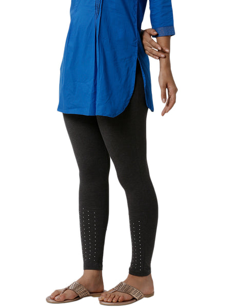 De Moza Ladies Stud Anthra Melange Active Wear - De Moza