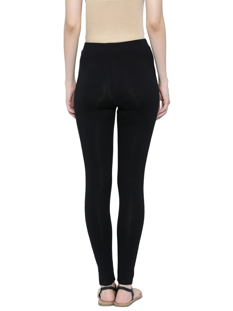 De Moza Ladies Ankle Length - Yoga Leggings Black - De Moza