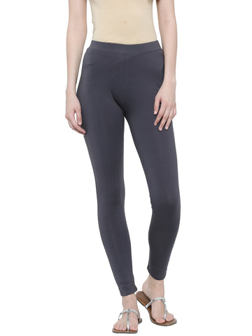 De Moza Ladies Ankle Length - Yoga Leggings Dark Grey - De Moza