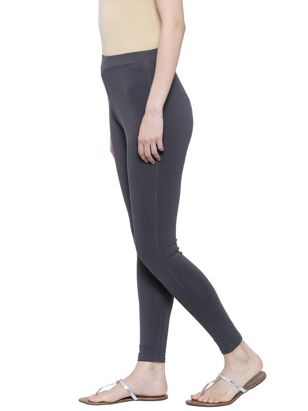 De Moza -Ladies Yoga Leggings Dark Grey - De Moza