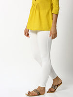 De Moza - Ladies Ankle Length Leggings Offwhite - De Moza