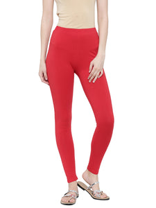 De Moza Ladies Ankle Length - Yoga Leggings Red