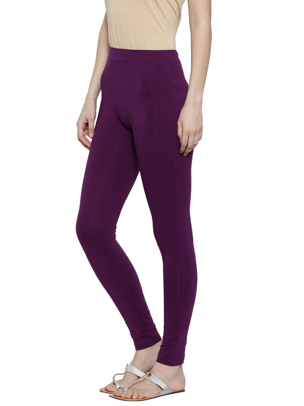 De Moza- Ladies Yoga Leggings Dark Purple - De Moza
