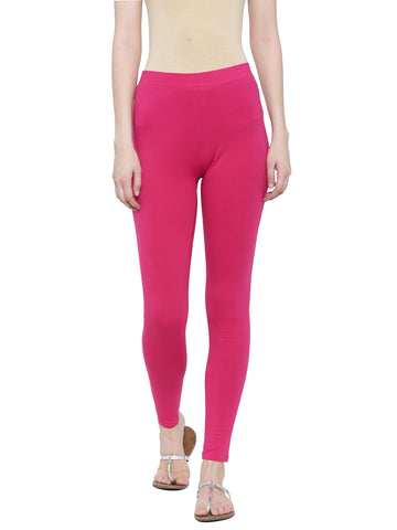 De Moza Ladies Ankle Length - Yoga Leggings Fuchsia