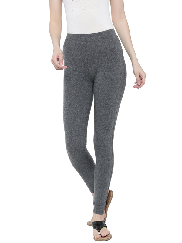 De Moza-Ladies Yoga Leggings Anthra Melange - De Moza