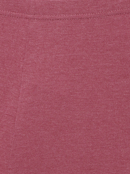 De Moza Ladies Ankle Length - Yoga Leggings Maroon Melange