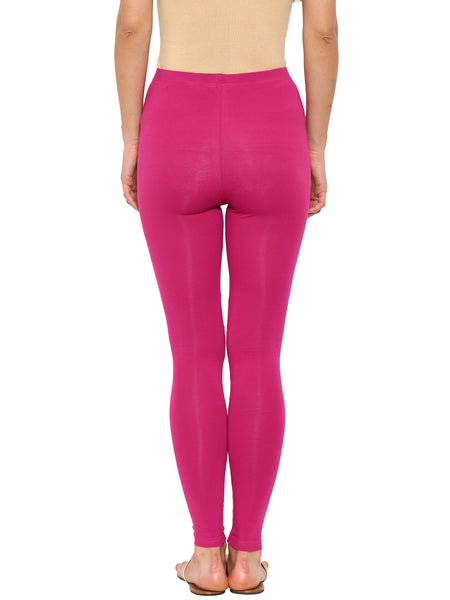 De Moza - Women's Pink Leggings Ankle Length