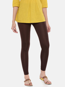De Moza Ladies Ankle Length Leggings Modal Brown - De Moza