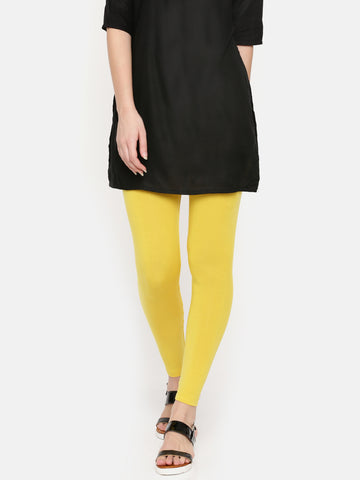 De Moza Ladies Ankle Length Leggings Modal Golden Yellow - De Moza