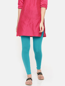 De Moza Ladies Ankle Length Leggings Modal Teal - De Moza