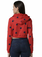 De Moza Ladies Red full sleeve Sweat Shirt - De Moza
