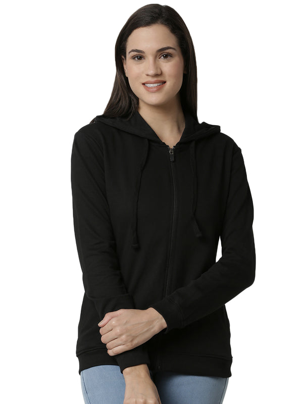 De Moza Ladies Black Sweat shirt - De Moza