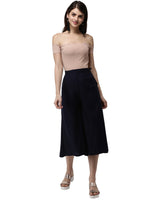 De Moza- Ladies Culottes Dark Navy Blue - De Moza
