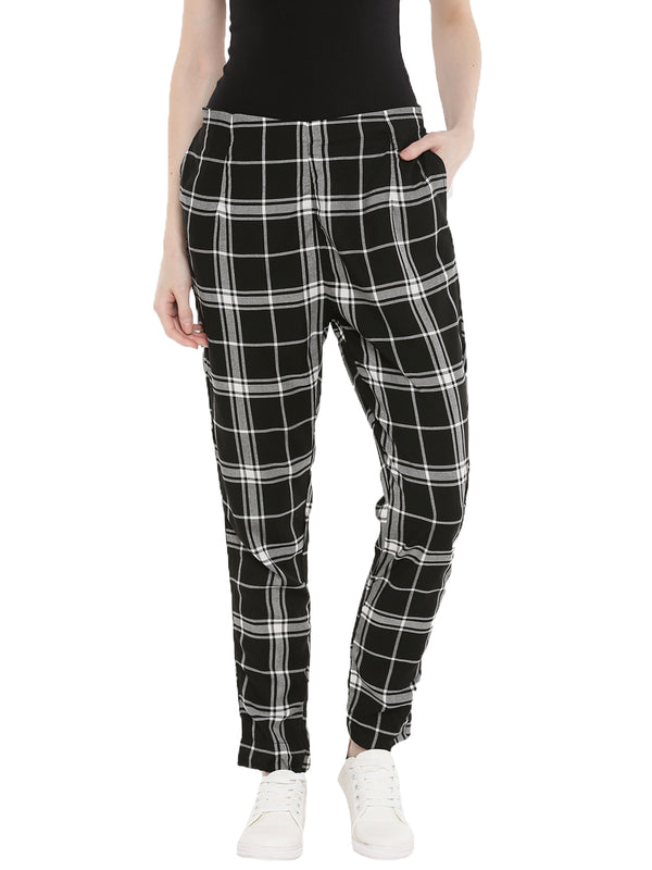 De Moza- Ladies Black Cigarette Pant - De Moza