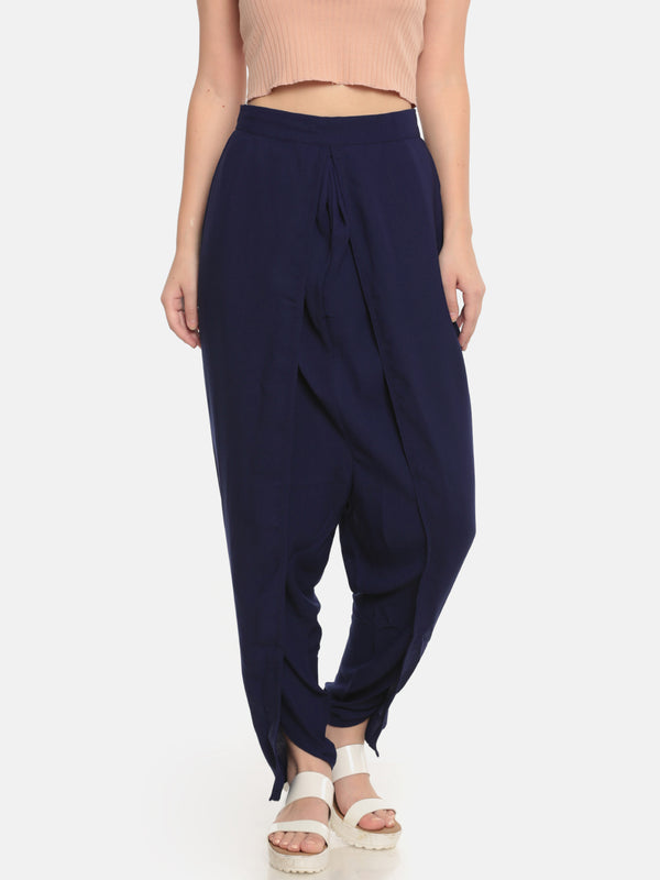 De Moza Ladies Dhoti Pant Navy Blue - De Moza