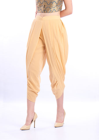 De Moza Ladies Dhoti Pant Woven Bottom Solid Polyester Skin - De Moza