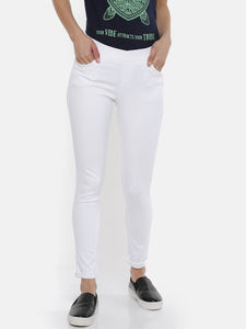 De Moza Ladies White Jeggings - De Moza