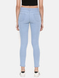 De Moza Ladies Ice Blue Denim - Ice Blue Jeans Pant for Ladies
