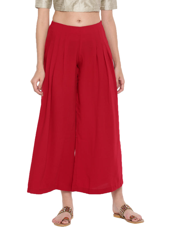 De Moza Ladies Large Palazzo Red - De Moza