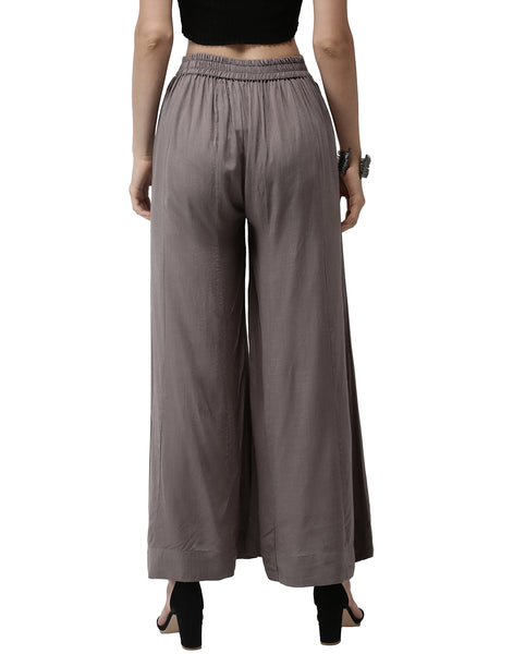 De Moza- Ladies Large Palazzo Dark Grey - De Moza