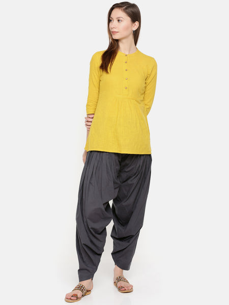 De Moza Ladies Cotton Patiala - Dark Grey