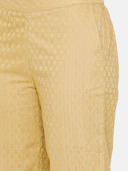 De Moza women's Regular Palazzo Woven Bottom Embrodry Cotton Skin - De Moza