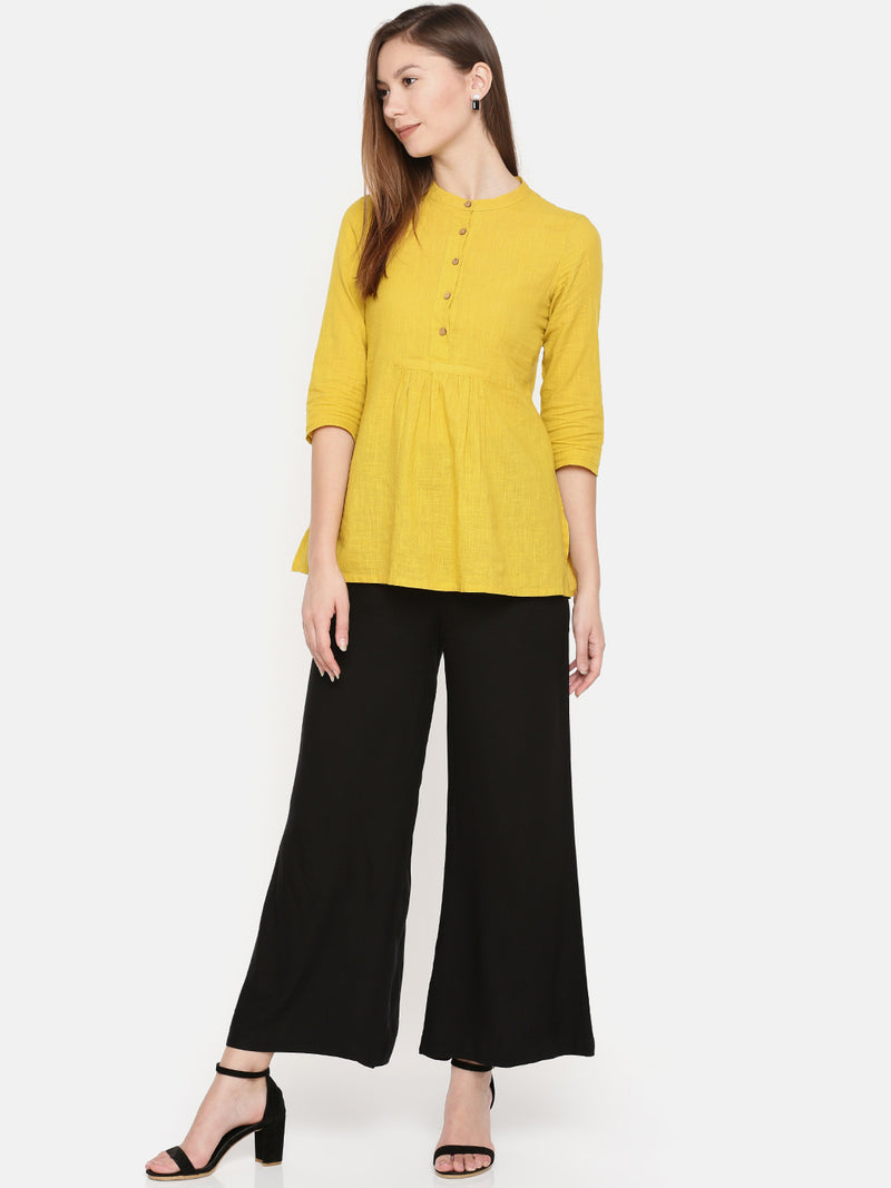 De Moza Ladies Palazzo -Wide Leg Black - De Moza