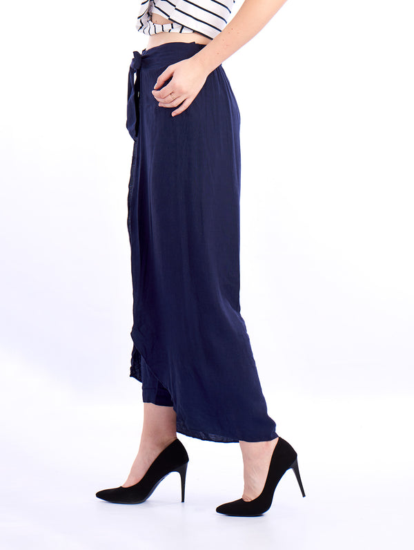 De Moza Ladies Ruffled Skirt Indigo Blue - De Moza