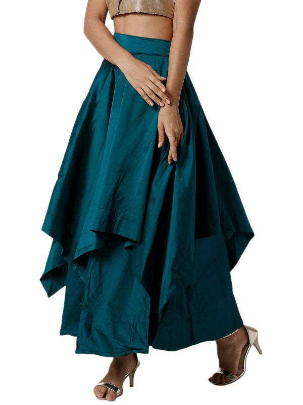 De Moza Ladies Bottle Green Skirt - De Moza