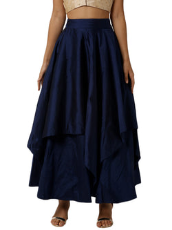 De Moza Ladies Mid Night Blue Skirt - De Moza