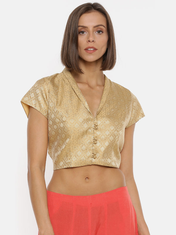 De Moza- Ladies Crop Top Gold - De Moza