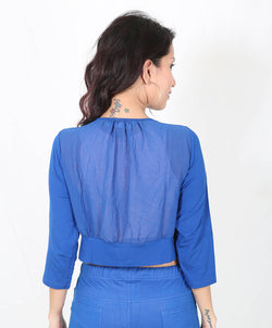 De Moza Ladies Short Shrug Cobalt - De Moza