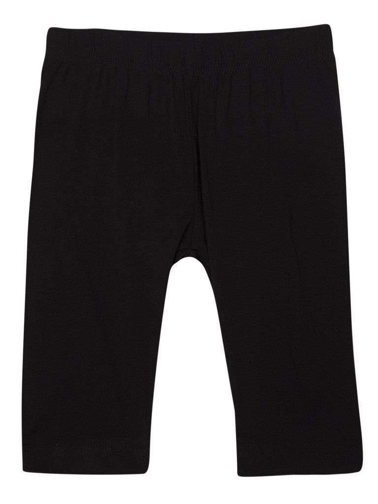 Kids - Girls Leggings 3/4th Leggings Black - De Moza