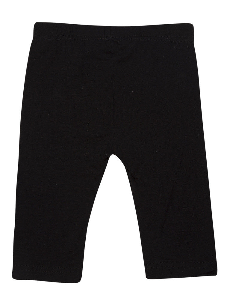De Moza Young - Girls Leggings 3/4th Length Viscose Lycra Solid Black