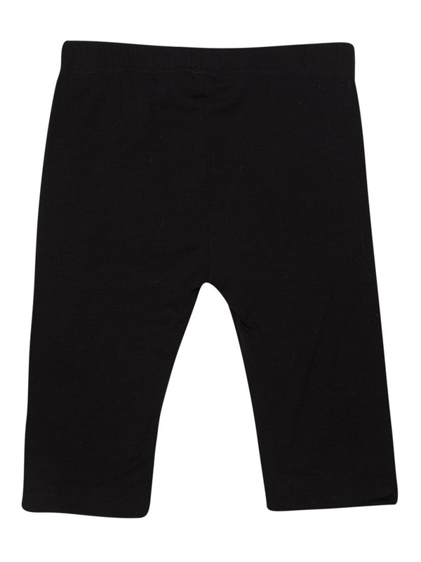 De Moza Kids - Girls Leggings 3/4th Length Viscose Lycra Solid Black