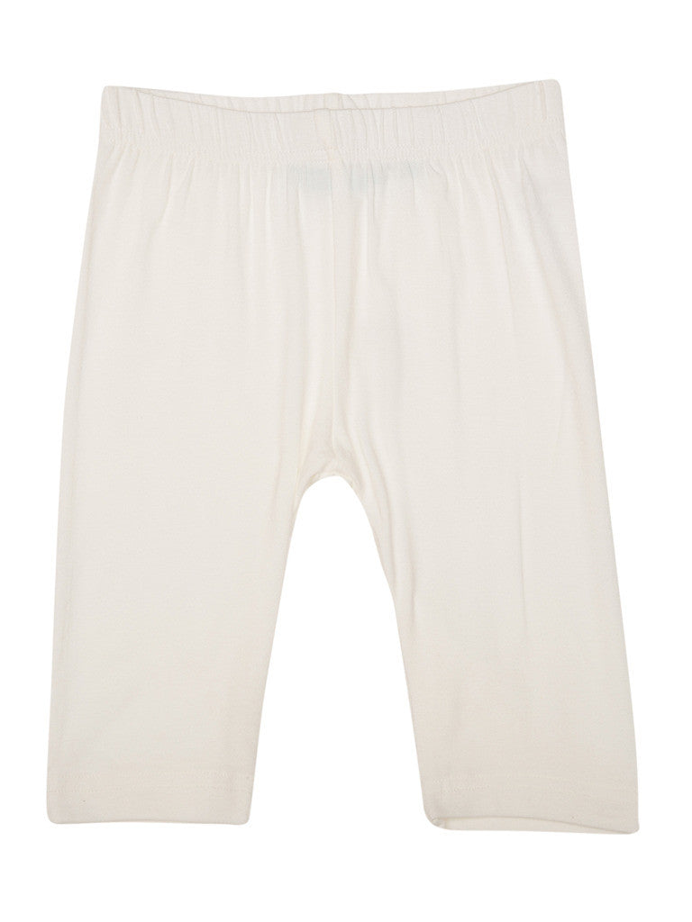 De Moza Young - Girls Leggings 3/4th Length Viscose Lycra Solid White