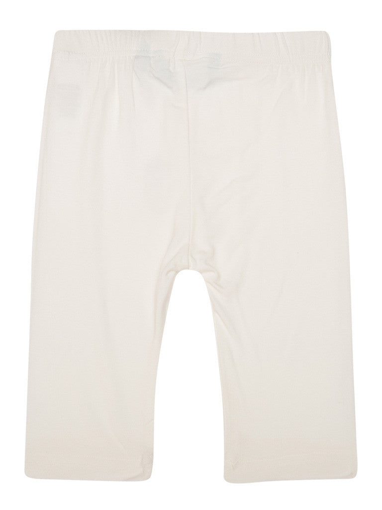 De Moza Kids - Girls Leggings 3/4th Length Viscose Lycra Solid White