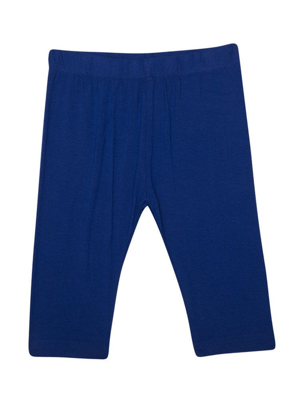 De Moza Kids - Girls Leggings 3/4th Length Viscose Lycra Solid Cobalt