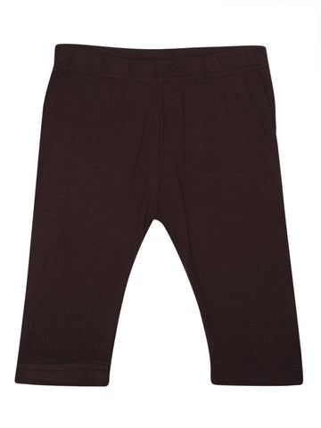 De Moza Kids - Girls Leggings 3/4th Length Viscose Lycra Solid Brown