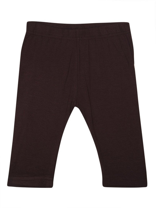 Kids - Girls Leggings 3/4th Leggings Brown - De Moza